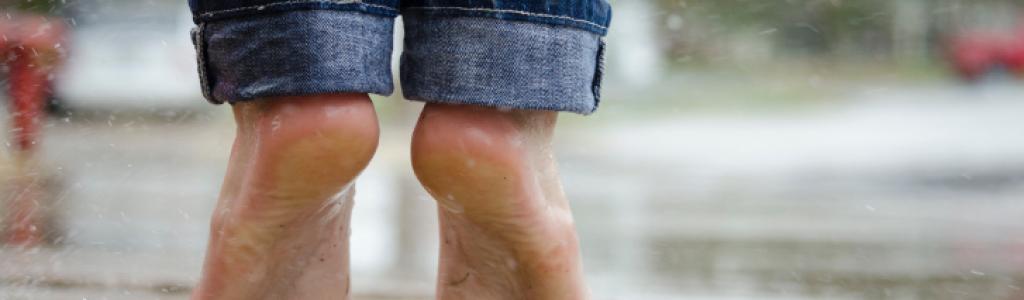 feet rain